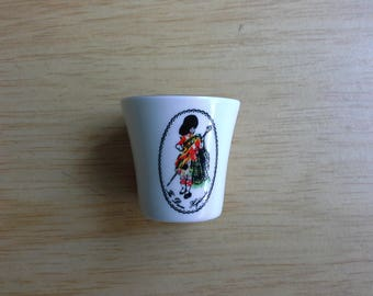 Dewar's scotch whisky shot glass