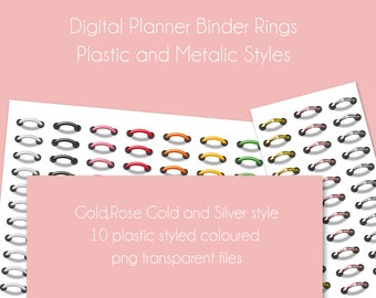 Digital Binder Rings, Digital Planner, Goodnotes, IOS, Ipad, png, Limited Commercial Use