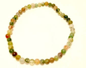 Indian agate beads bracelet for a 17.5 cm wrist