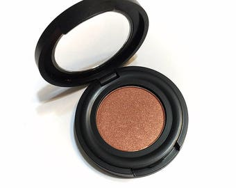 ORGANIC TIGRESS Pressed Mineral Eyeshadow - Copper Eye Color Natural Eye Shadow - Plant Makeup - Organic Gluten Free Vegan Mineral Makeup