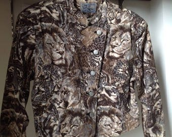 Vintage KENZO leopard baroque jacket size M