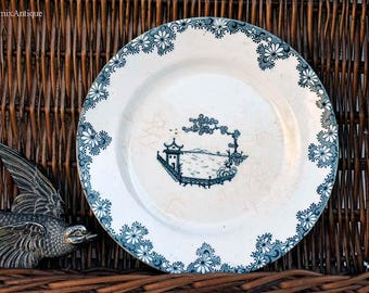 Vintage B P. Co Ltd Britannia pottery made in Scotland Pagoda Decor Lunch Plate Retro Scottish Chinaware Collectible Britannia Tableware