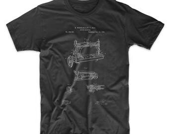 Sewing Machine Patent T shirt, Industrial Shirt, Sewing Machine Decor, Sewing Machine shirt, Antique Sewing Machine, PP0037 Z1016