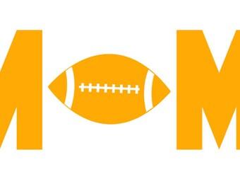 "FREE SHIPPING //  7.2x2.8"" Football Mom Sport Vinyl Decal - Team Spirit Decal - Little League - Team Mom - Car Decal"