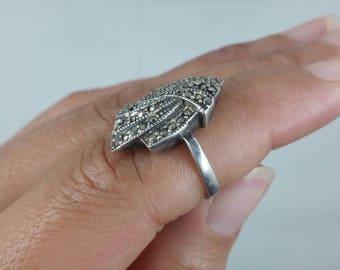 Hematite Sterling Silver Ring