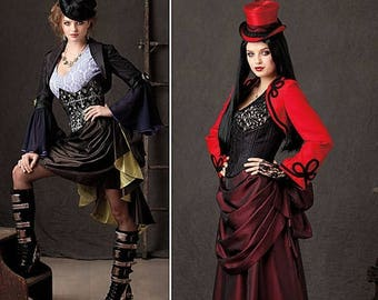 1819 Simplicity, Steampunk Costumes, Cosplay, Bustier, Theresa Laquey Costume Design, victorian gown, steampunk gown