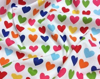 Robert Kaufman Remix Hearts 10395-195 Bright Patchwork Quilting Dressmaking Cotton