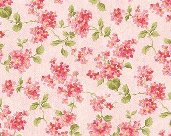 FOREVER LOVE (Morning Glory) - Forget Me Not in Rose Pink - Floral Cotton Quilt Fabric - Eleanor Burns - Benartex Fabrics - 10141-22 (W4600)