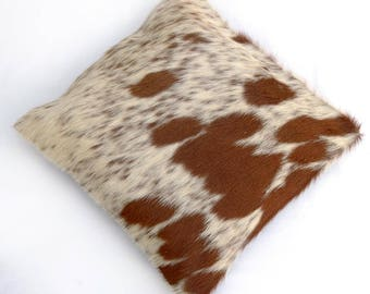 Natural Cowhide Luxurious Hair On Cushion/ Pillow Cover (15''x 15'') A35