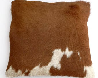 Natural Cowhide Luxurious Hair On Cushion/ Pillow Cover (15''x 15'') A55