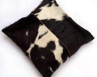 Natural Cowhide Luxurious Patchwork Hairon Cushion/pillow Cover (15''x 15'')a281