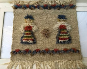 Vintage Hand Made Wall Tapestry