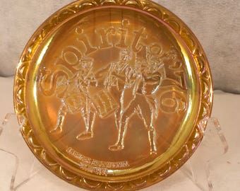 Vintage Irridescent Bicentennial Commemorative Plate