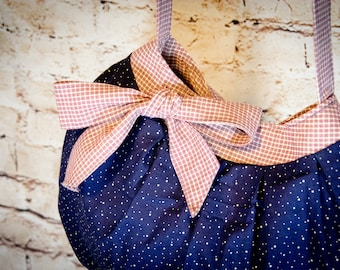 Navy and Red Bow Tote Bag