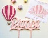 Cake topper for cakes with names