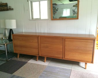 Mid century modern dresser , chest and mirror