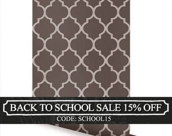 Moroccan Chocolate Brown Peel & Stick Fabric Wallpaper Repositionable