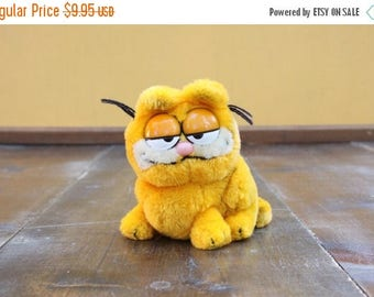 Vintage Garfield gevuld dier [Retro zacht gevuld Childrens dier speelgoed kat kwekerij jaren tachtig jaren negentig] 6 inch hoog
