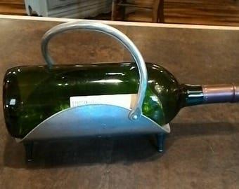 Vintage Aluminum Ware Wine Caddy