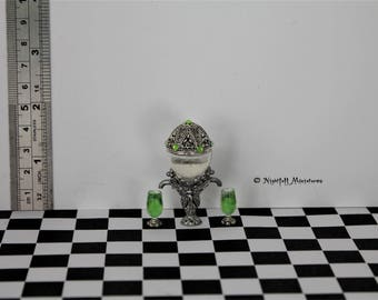 Dollhouse Miniature Fairy Absinthe  Dispenser and Glasses in 1:12 scale
