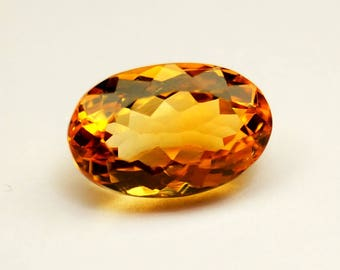 Citrine Gemstone Oval Cut - Yellow Citrine Gemstones - Citrine Gems Wholesale Price Size 13x8.5x7.4 mm