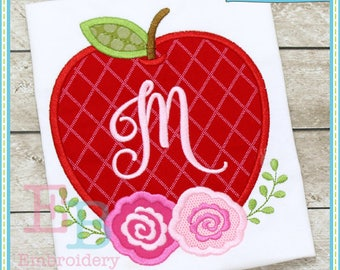 Apple Roses Applique - This design is to be used on an embroidery machine. Instant Download