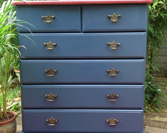 Sold Solid pine chest of drawers