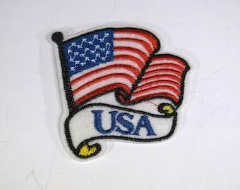"Iron-on ""USA flag"", applique, application (P114)"