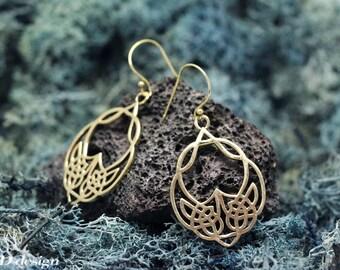 Futuristic Beautiful Brass Earrings