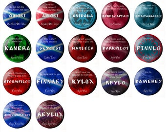 """Star Wars Ship / OTP 1"""" Buttons"""