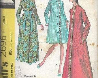 """25% OFF McCall's 2696       Misses  """"Robe"""" in Three Versions      Size Large     C1970"""