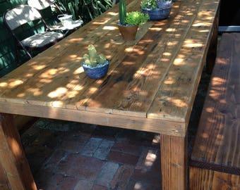Wood Farmhouse Table