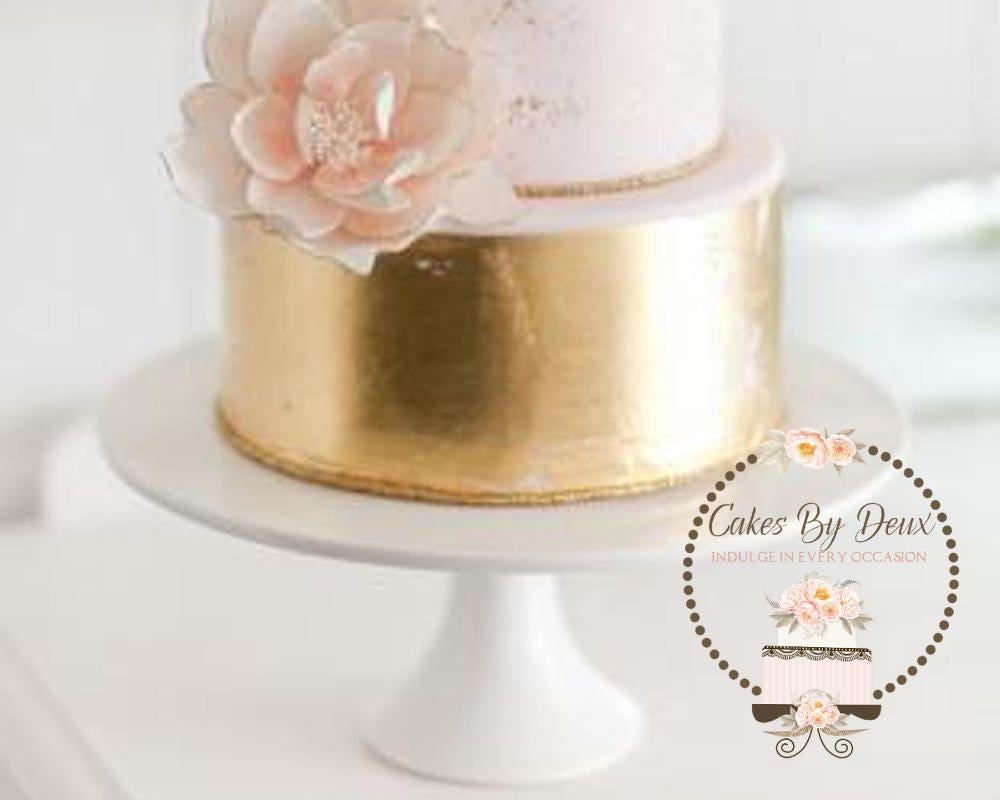 Logo,Premade Logo Design-Bakery,Cake,Floral-Peach,Brown,Orange-Color ...