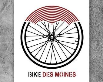 Bike Des Moines Screen print