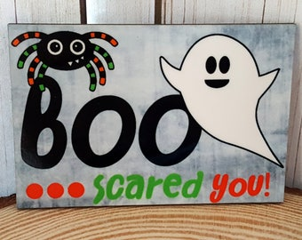Halloween Rectangle Shaped Magnet | BOO scared you | Fun Holiday Magnet