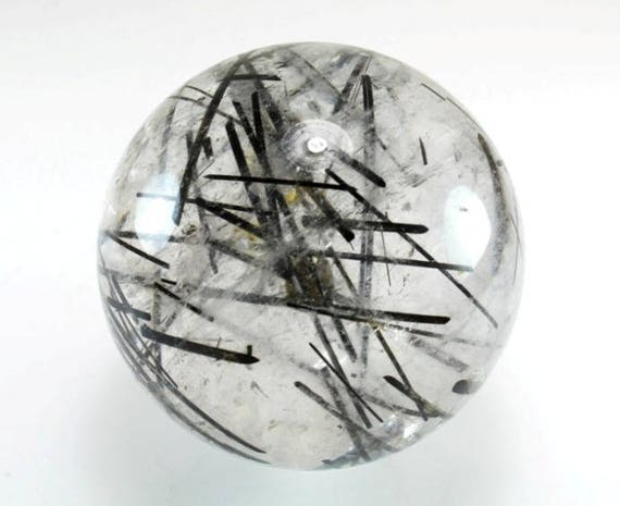 Quartz Sphere with Black Tourmaline, M-1475