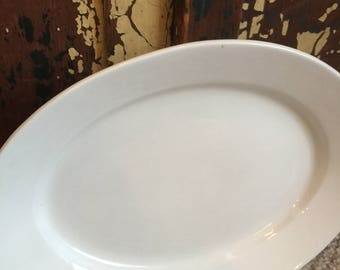 Antique// Jeanne De Arc// Huge// Powell & Bishop// White// Ironstone Platter// Wonderful Condition!