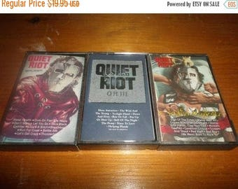 Save 25% Now Collection of Three Vintage Quiet Riot Heavy Metal Cassette Tapes Metal Health QRIII Condition Critical