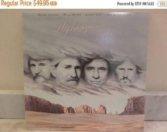 Save 30% Today Vintage 1985 Vinyl LP Record Highwayman Waylon Jennings Willie Nelson Johnny Cash Kris Kristofferson MINT Condition 14131
