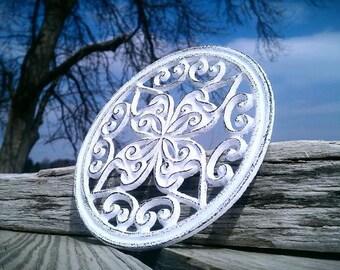 Trivet, Cast Iron Trivet, Shabby Chic Wall Decor, Celtic Design