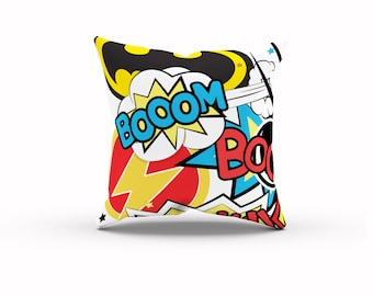 Superhero Pillow, Marvel vs DC, Comic Book Pillow, Superhero Party, Marvel Room Decor, DC Super Hero, Geek Gift, Marvel Birthday, Geek Baby