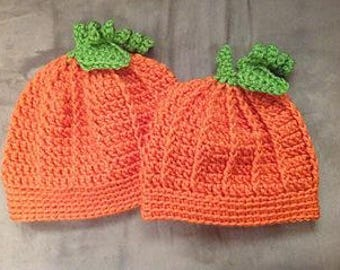 PUMPKIN BEANIE for BABY or Toddler!