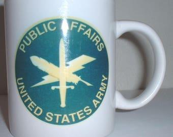 US Army Public Affairs ceramic coffee mug