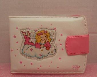 SALE 90s Tinkerbell Cosmetics Plastic Wallet 1990s Nineties Pink White Kids Wallet Billfold Rare