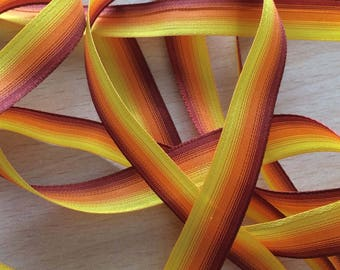 ombre Ribbon shades of yellow orange