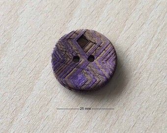 "Pretty ""tribe"" Brown purple size: 25 mm"