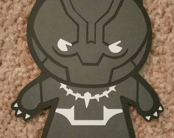 Marvel's The Avengers Panther (Single-sided) - Kawaii Style - Die Cut