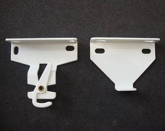 1 Pairrollease Roller Shade Bracket #560 White For R16 & R24 Clutch/mpn #rb560w