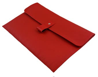 """Red Leather 13"""" Macbook Air Case - Can be Personalised"""