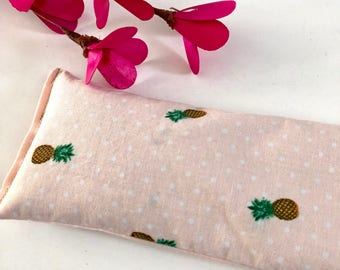 Yoga eye pillow filled with lavender and flax, pineapple pillow, yoga pillow aromatherapy